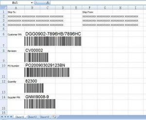 Making and Printing Barcode Labels